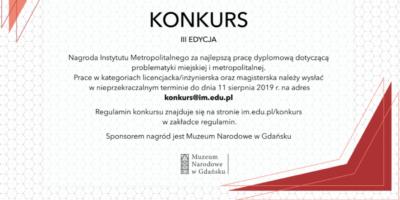 Konkurs Instytutu Metropolitalnego